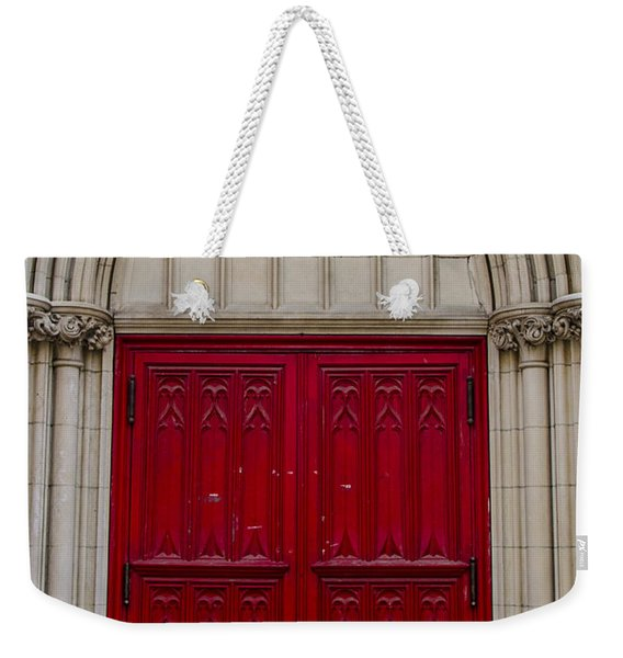 Behind The Red Door Weekender Tote Bag