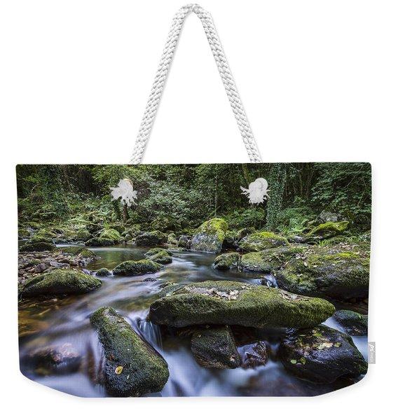 Belelle River Neda Galicia Spain Weekender Tote Bag
