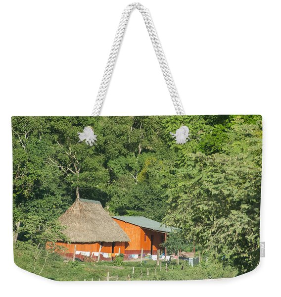 Belize House Weekender Tote Bag