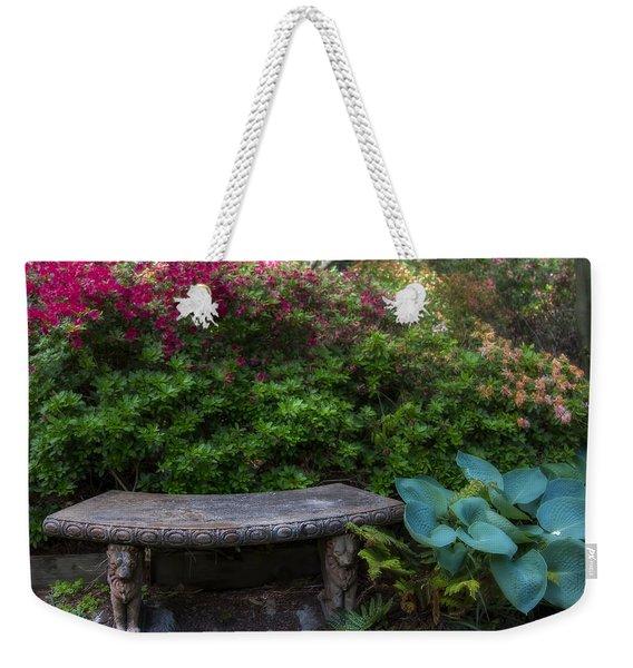 Bench In The Garden Weekender Tote Bag