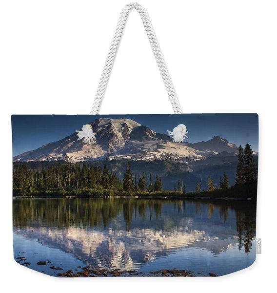 Bench Lake Sunrise Weekender Tote Bag