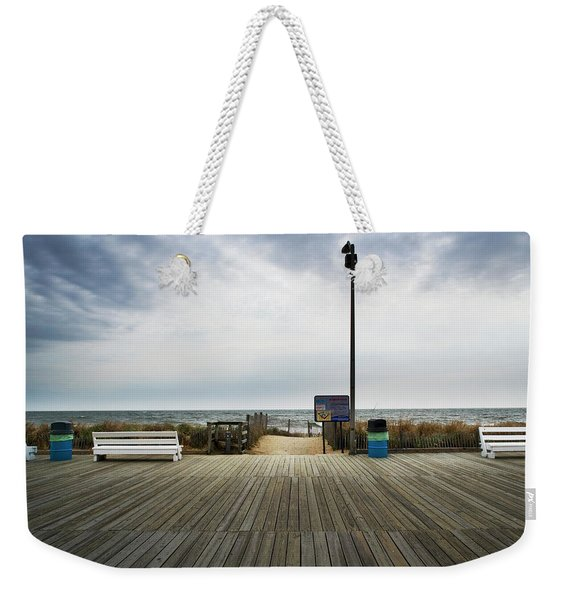 Benches On Boardwalk Rehoboth Beach Weekender Tote Bag