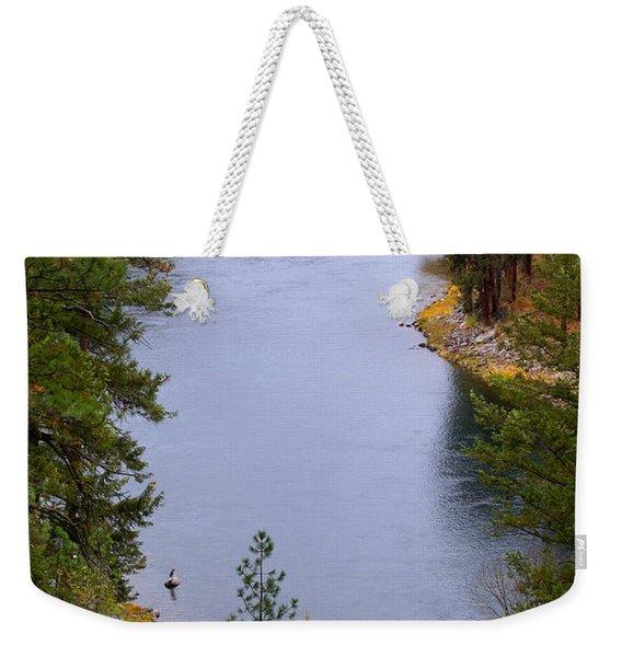 Bend In The River Weekender Tote Bag