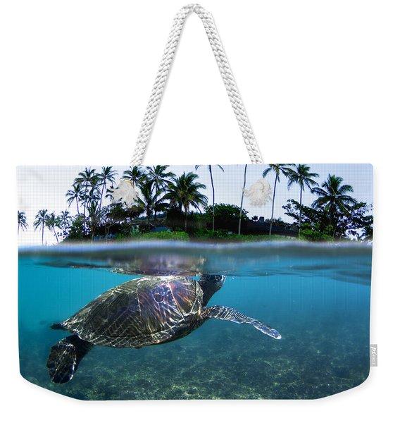 Beneath The Palms Weekender Tote Bag