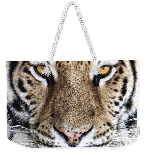 Bengal Tiger Eyes Weekender Tote Bag