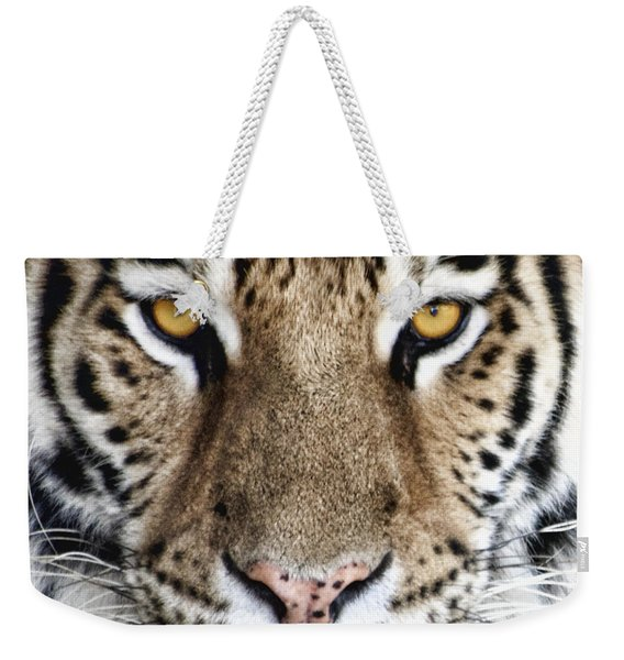 Bengal Tiger Eyes Weekender Tote Bag