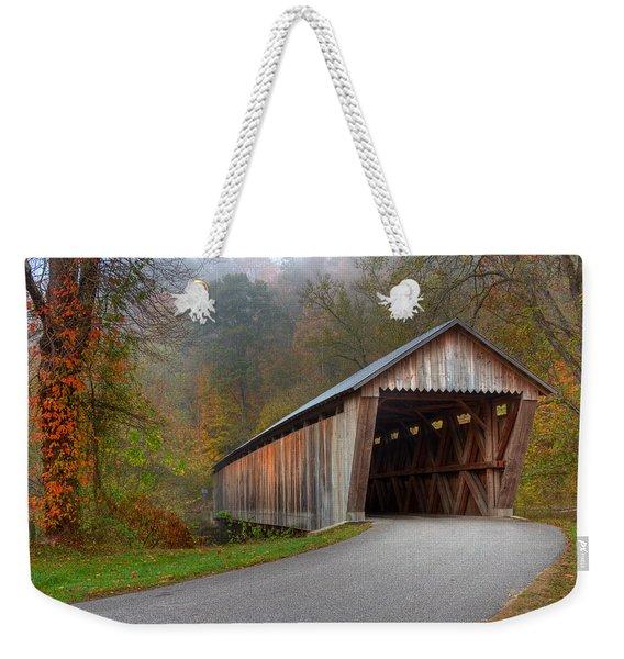 Bennett Mill Covered Bridge Weekender Tote Bag