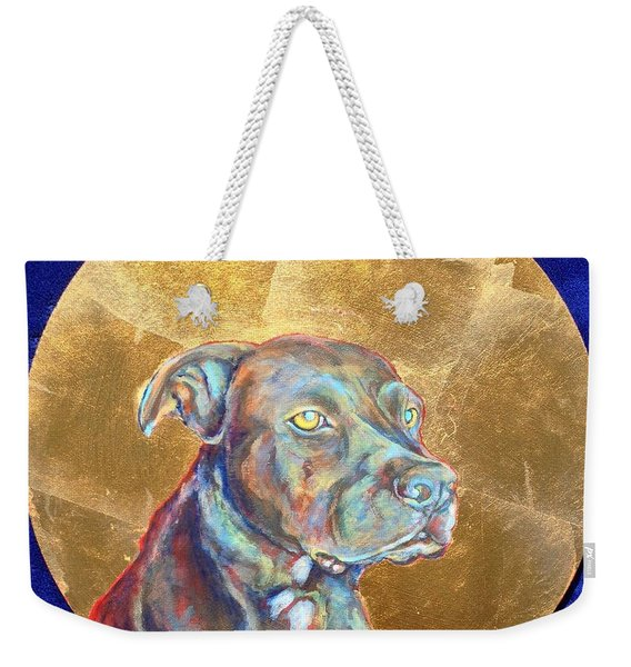 Weekender Tote Bag featuring the painting Beowulf by Ashley Kujan