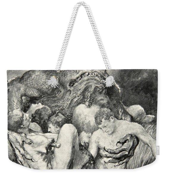 Beowulf Print Weekender Tote Bag