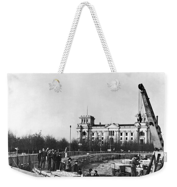 Berlin Wall Construction Weekender Tote Bag