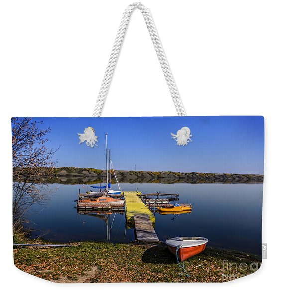 Berth For Yachts At Manitou Lake Weekender Tote Bag