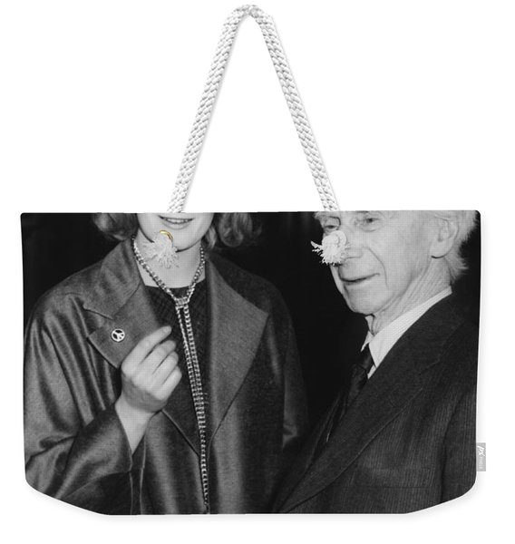 Bertrand Russell And Redgrave Weekender Tote Bag