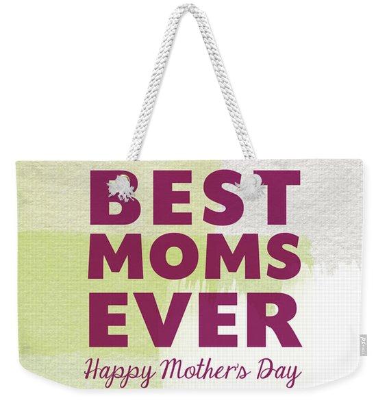 Best Moms Card- Two Moms Greeting Card Weekender Tote Bag