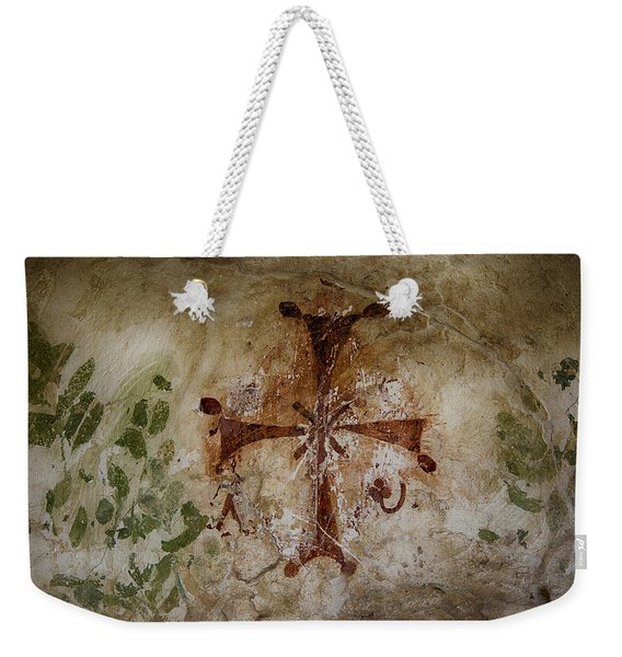 Bet She'an Baptistery Cross Weekender Tote Bag