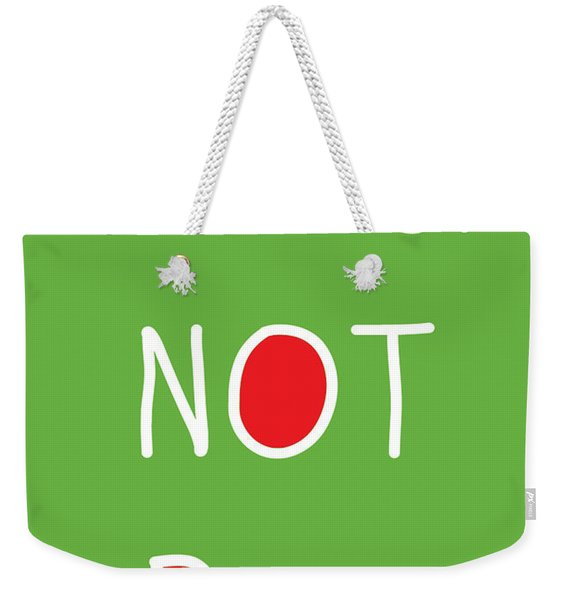Better Not Pout - Green Red And White Weekender Tote Bag