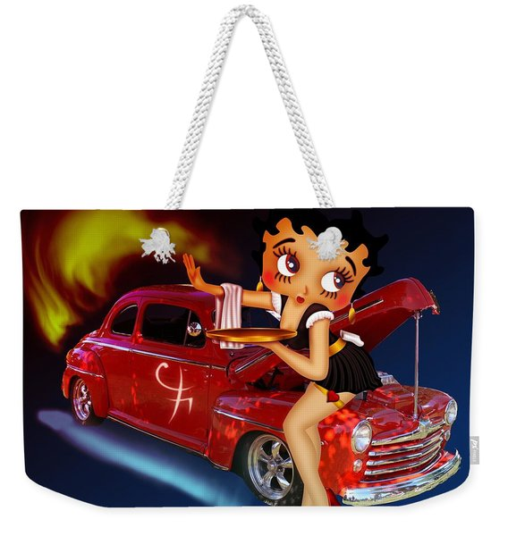 Betty Boop Service1-featued In Comfortable Art Group Weekender Tote Bag