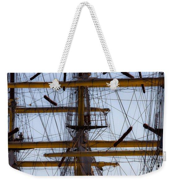 Between Masts And Ropes Weekender Tote Bag