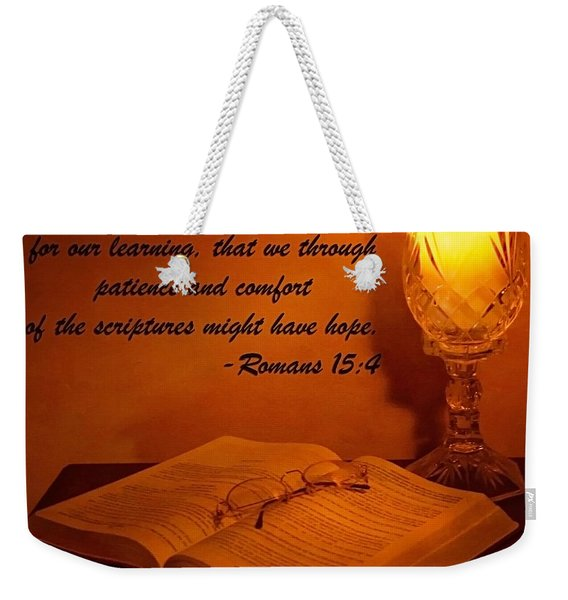 Bible By Candlelight Weekender Tote Bag