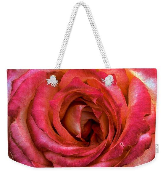 Bicolor Rose Weekender Tote Bag