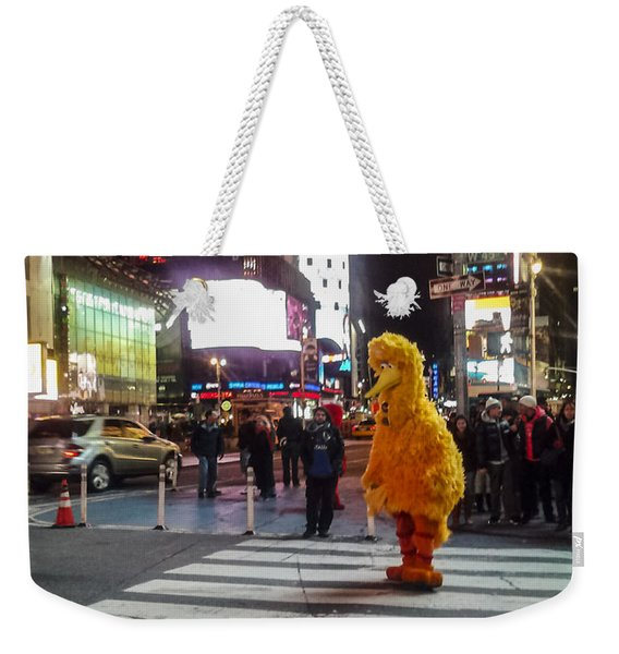Big Bird On Times Square Weekender Tote Bag