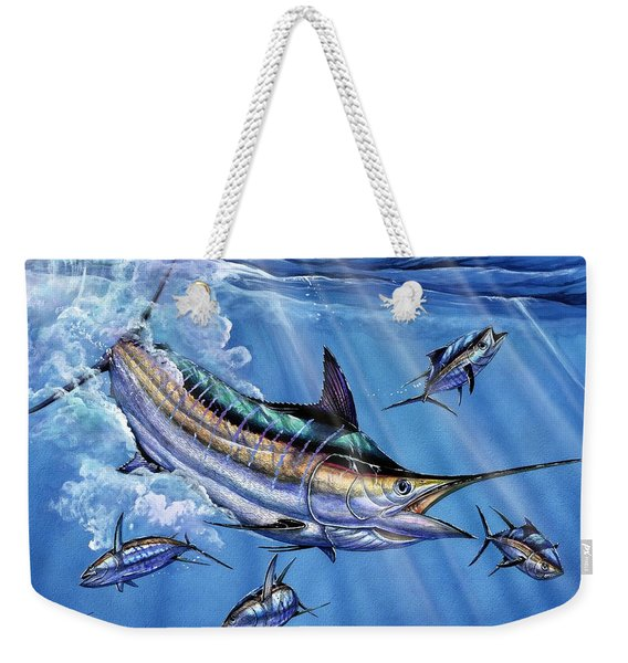 Big Blue And Tuna Weekender Tote Bag