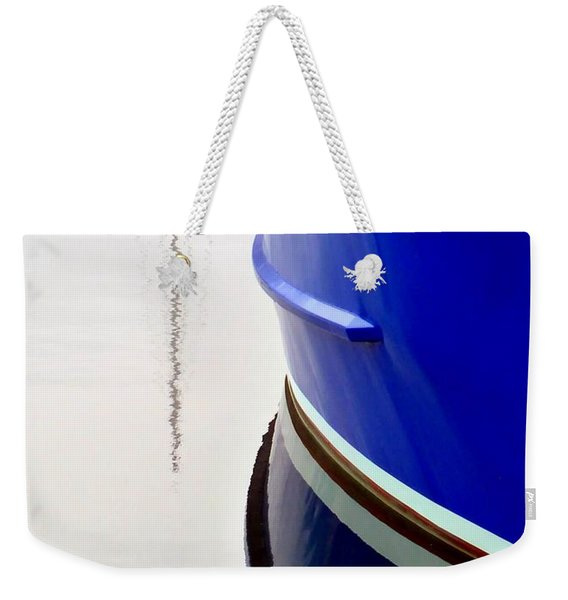 Weekender Tote Bag featuring the photograph Big Blue by Patricia Strand