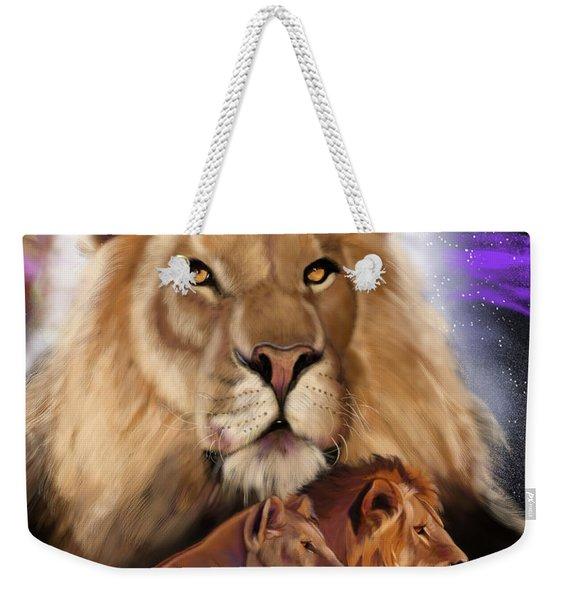 Third In The Big Cat Series - Lion Weekender Tote Bag