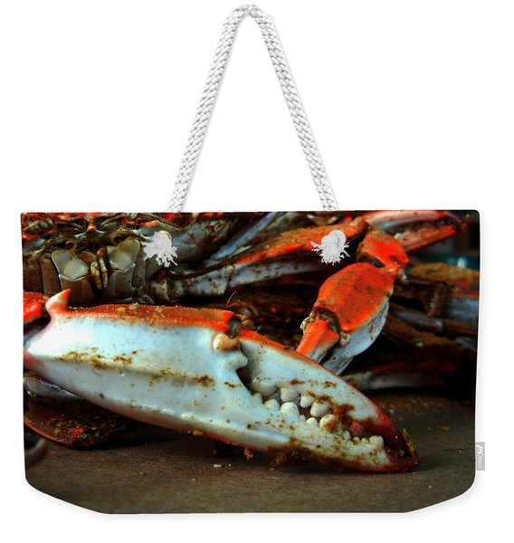 Big Crab Claw Weekender Tote Bag