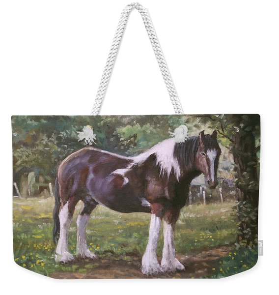 Big Horse In Field Weekender Tote Bag
