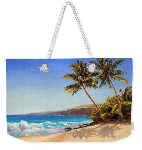 Hawaiian Beach Seascape - Big Island Getaway  Weekender Tote Bag
