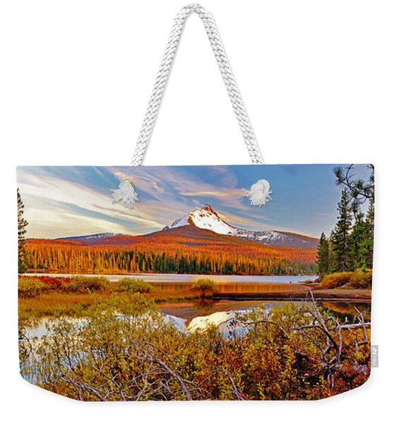 Big Lake And Mt Washington Oregon Weekender Tote Bag