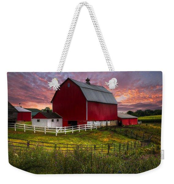 Big Red At Sunset Weekender Tote Bag