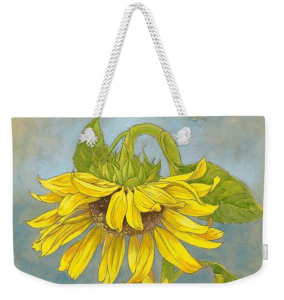 Big Sunflower Weekender Tote Bag