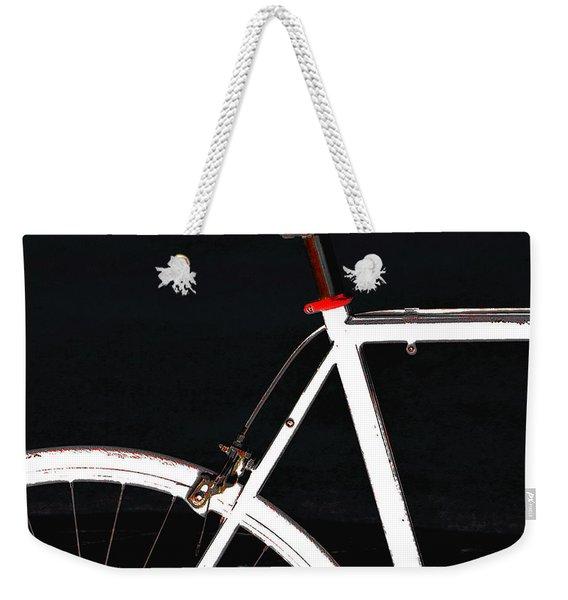Bike In Black White And Red No 1 Weekender Tote Bag