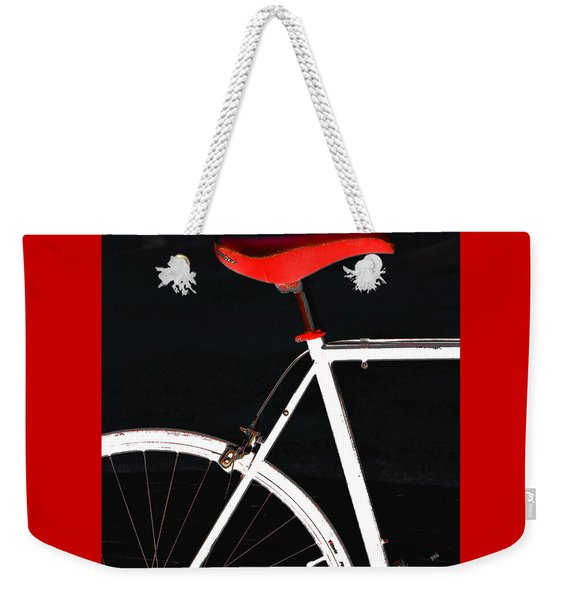 Bike In Black White And Red No 1 Weekender Tote Bag