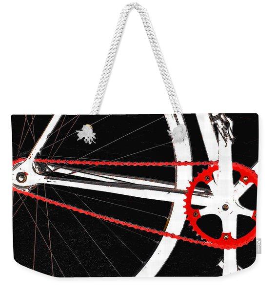 Bike In Black White And Red No 2 Weekender Tote Bag