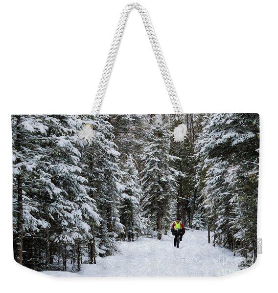 Biking The Wilderness Weekender Tote Bag