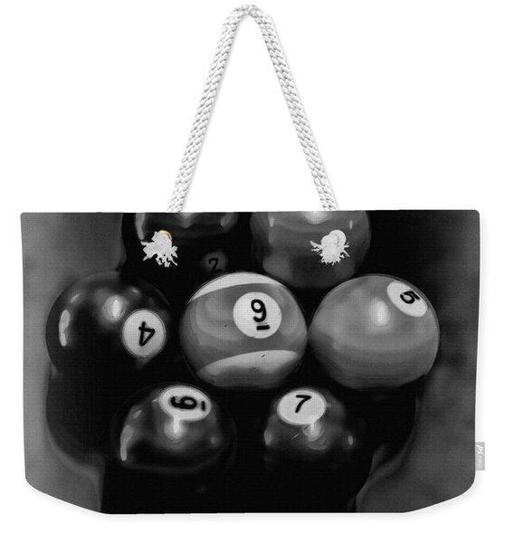 Billiards Art - Your Break - Bw  Weekender Tote Bag