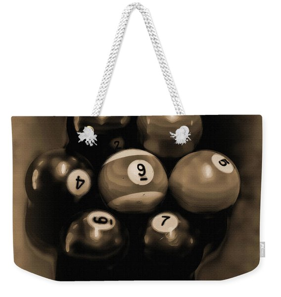 Billiards Art - Your Break - Bw Opal Weekender Tote Bag