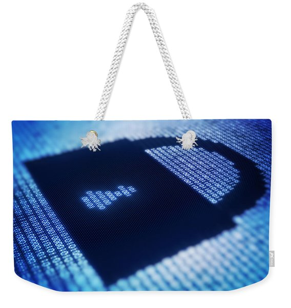 Electronic Data Security Weekender Tote Bag