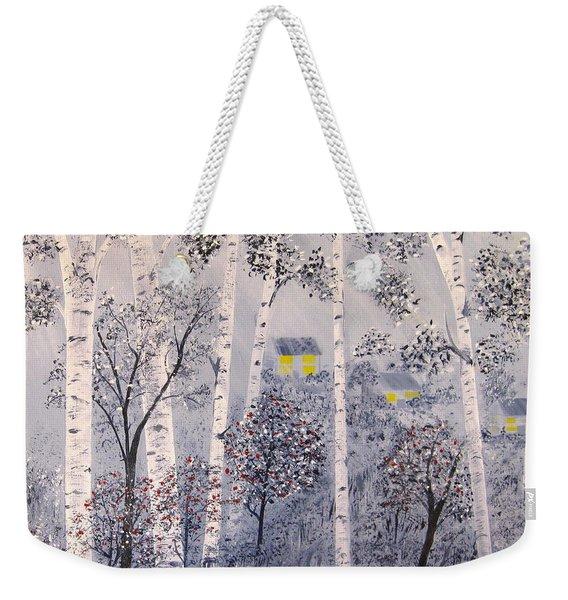 Birch Trees Weekender Tote Bag
