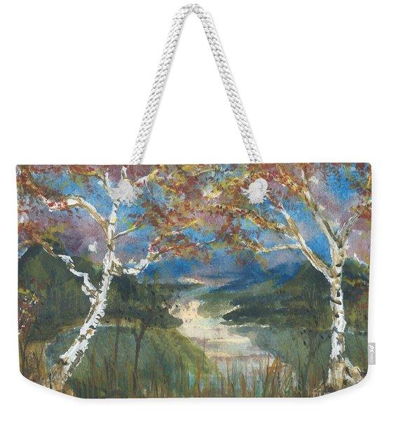 Birch Trees On The Ridge  Weekender Tote Bag