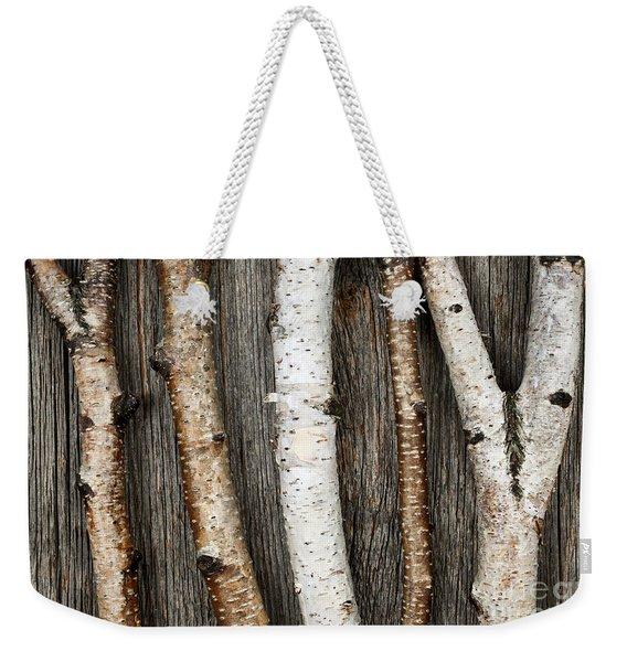 Birch Trunks Weekender Tote Bag
