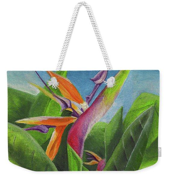 Hawaiian Bird Of Paradise Weekender Tote Bag