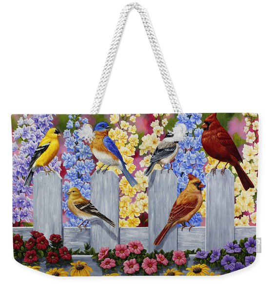 Bird Painting - Spring Garden Party Weekender Tote Bag