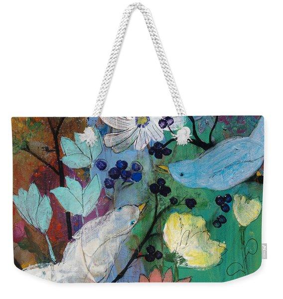 Birds And Berries Weekender Tote Bag
