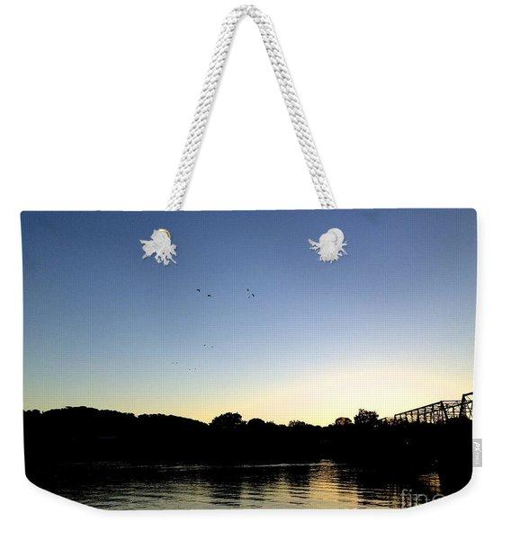 Birds And Blues Weekender Tote Bag
