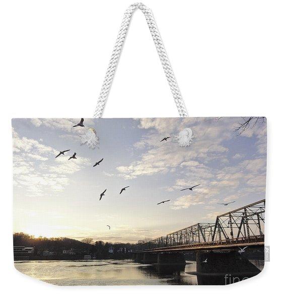 Birds And Bridges Weekender Tote Bag