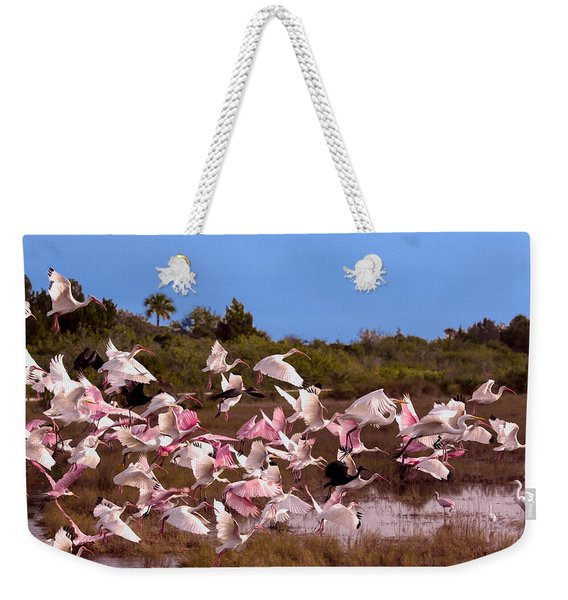 Birds Call To Flight Weekender Tote Bag
