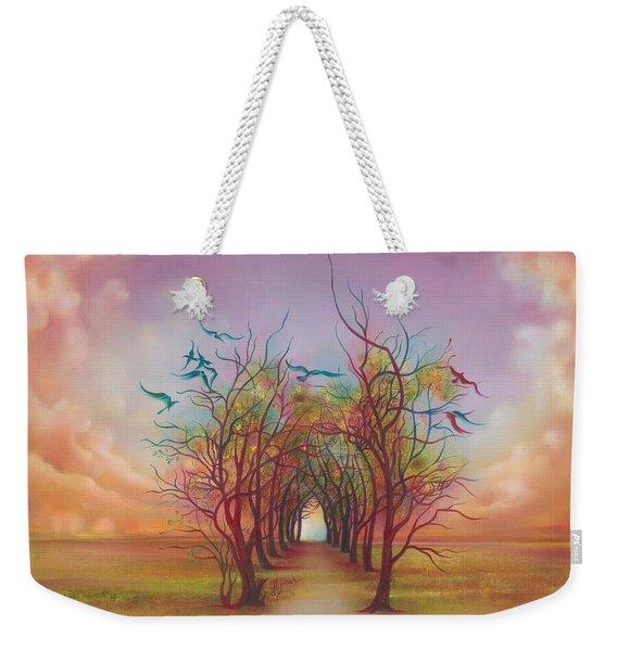 Birds Of Rainbow Mist Weekender Tote Bag